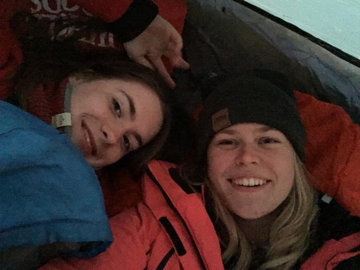 Siis kui telgis veel külm ei olnud :)