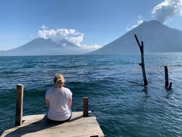 Maagilised vaated Atitlani järvele ning vulkaanidele :)